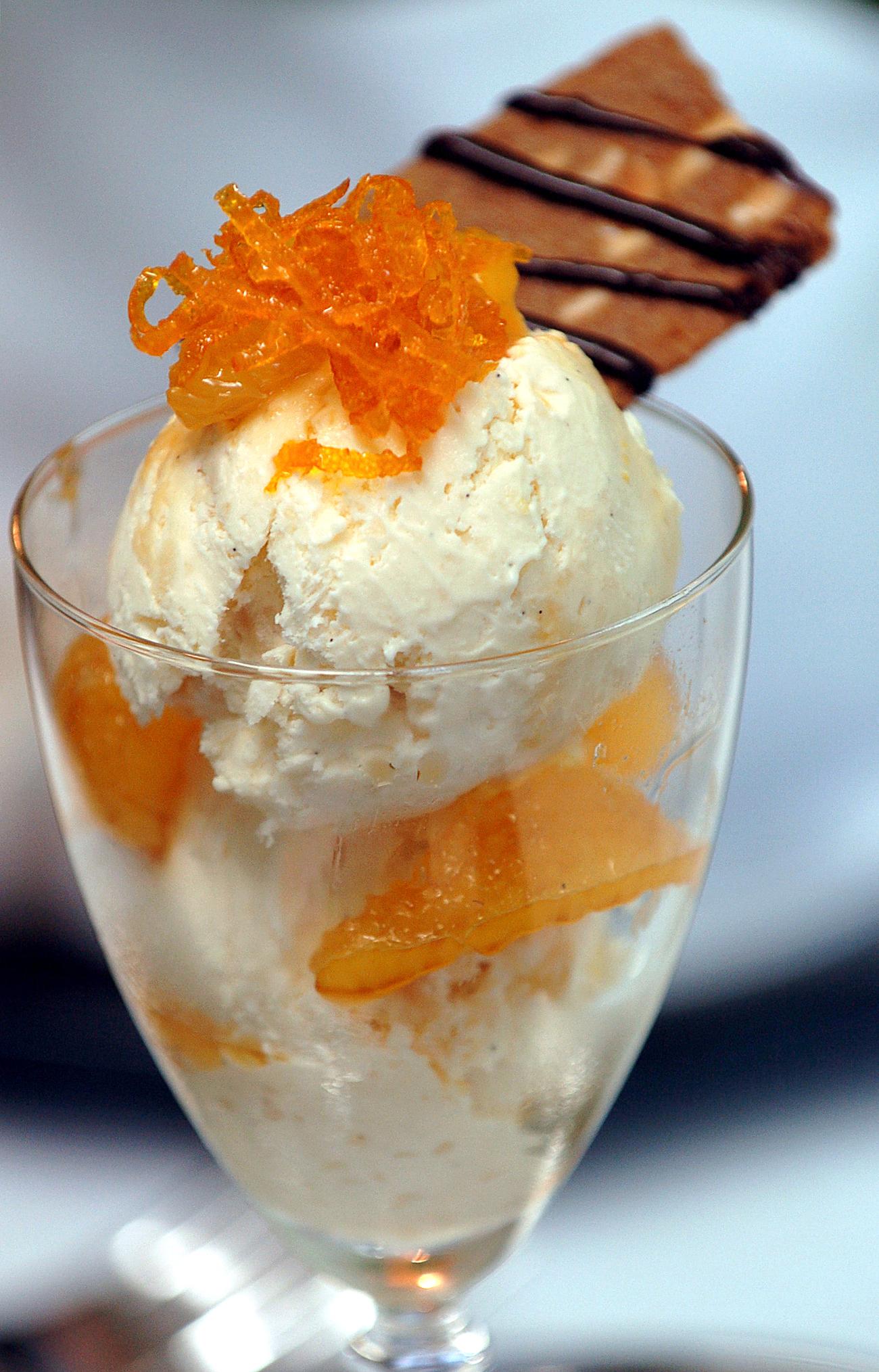 Italian Rice Ice Cream with Amaretto Orangest © Kevin Ashton 2005