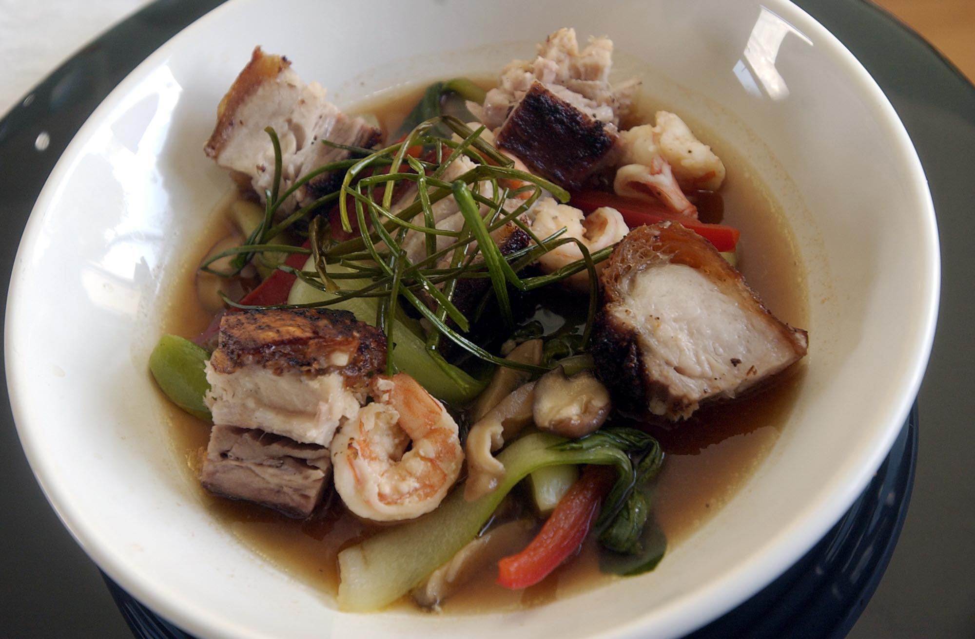 Crisp Chinese Roast Pork With Spicy Shrimp Broth Chef Kevin Ashton