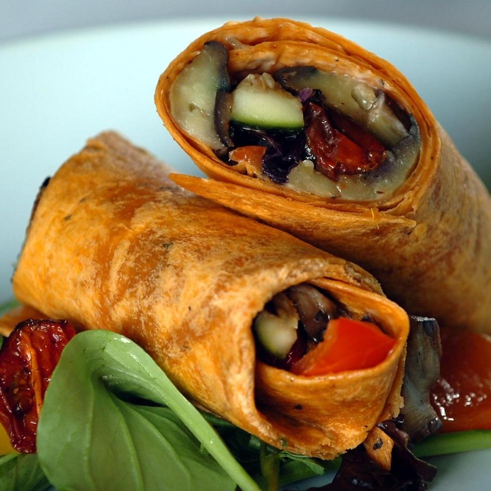 Roasted Vegetable Wrap with Herb & Garlic Mayonnaise ©Kevin Ashton 2005
