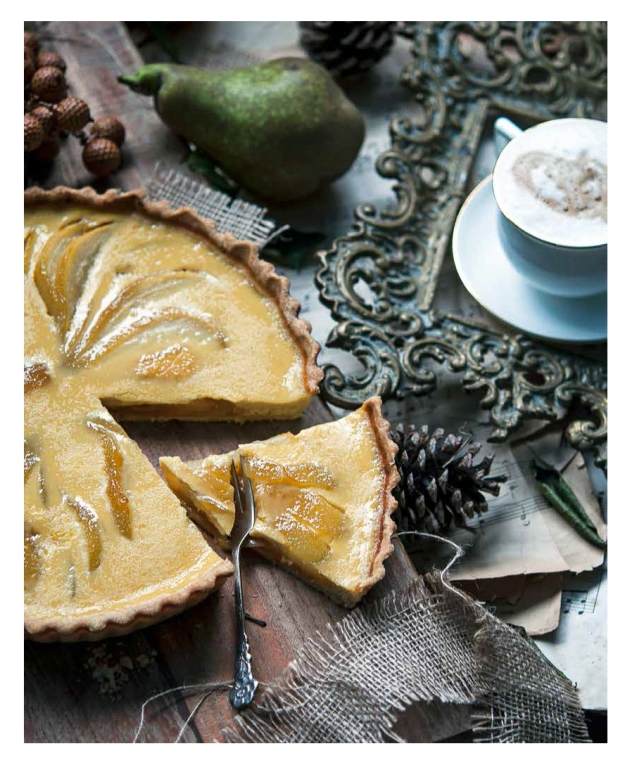 Pear Orange and Rosemary Tart © Gintare Marcel