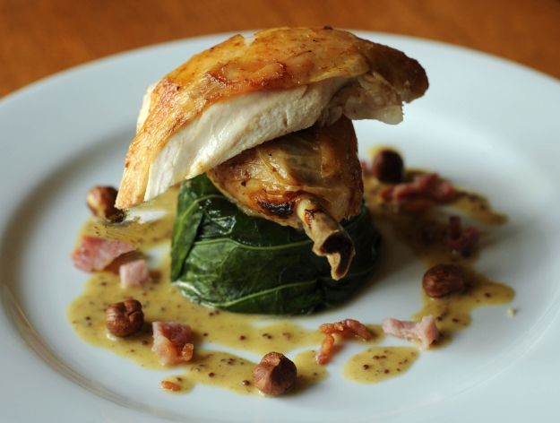 Roast Chicken with Hazelnut pan juices © Kevin Ashton