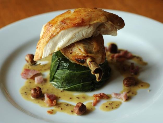 Roast Chicken with Hazelnut pan juices © Kevin Ashton