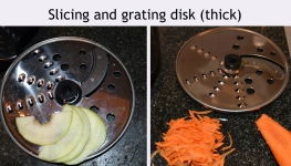 Slicing and grating disk thick