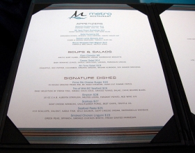Upscale menu