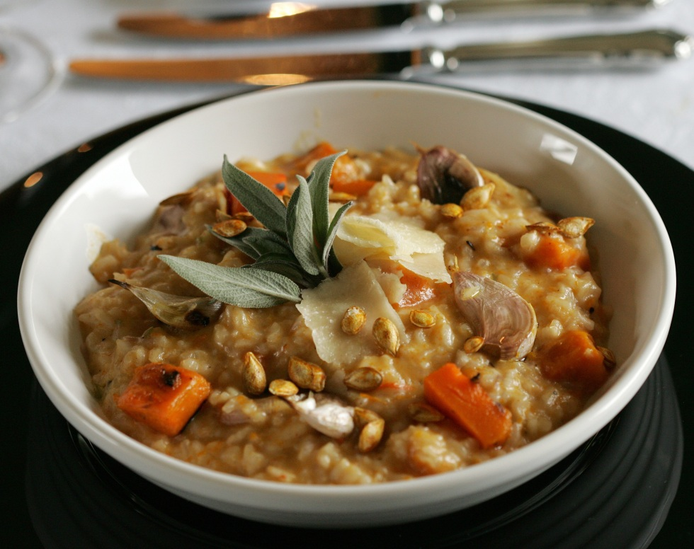 roasted butternut, squash, recipe, sage, chef kevin ashton, risotto
