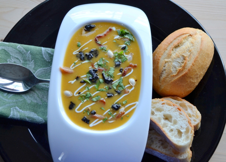 Butternut Squash and Black Garlic Soup