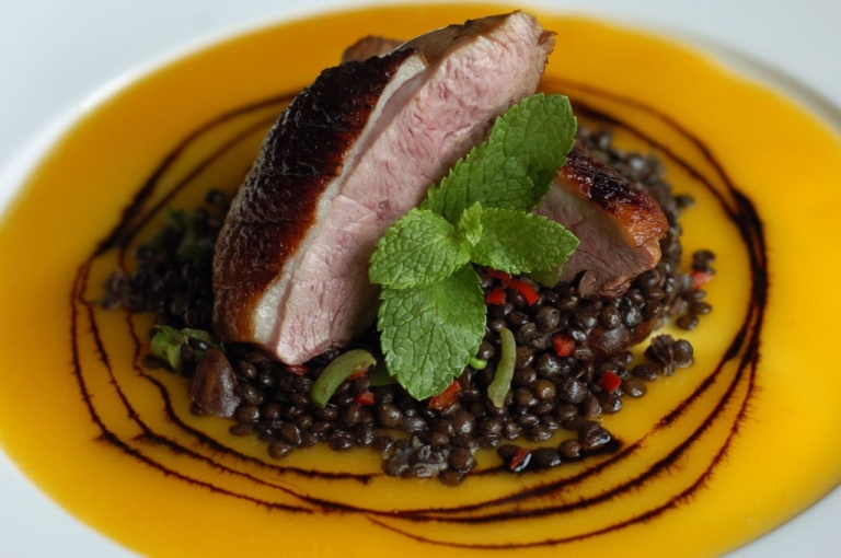 duck-with-beluga-lentils
