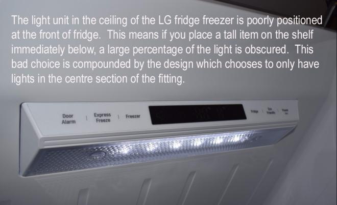 LG fridge lighting