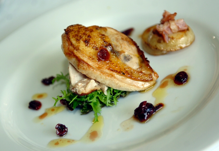 Pheasant Salad with Cranberry Dressing