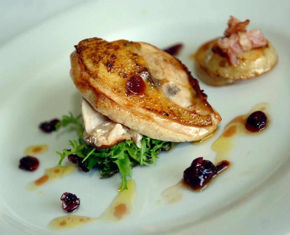 Pheasant Salad with Cranberry Dressing serves 2 © Kevin Ashton 2006
