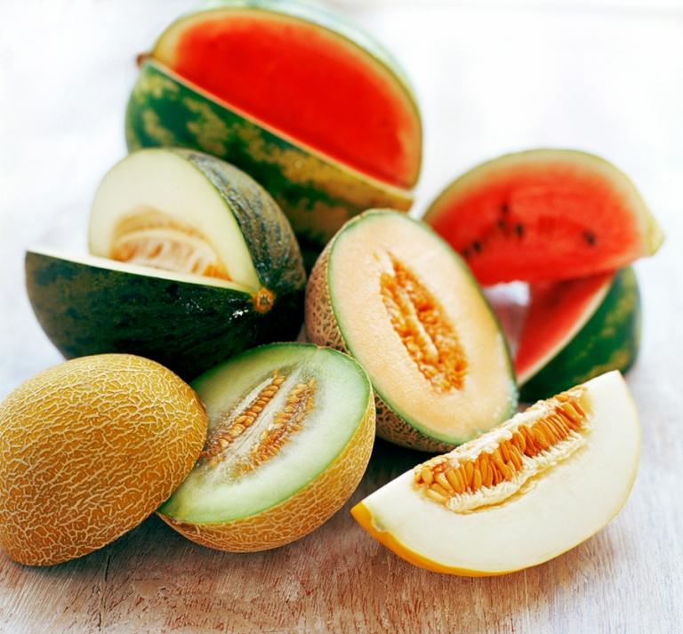 Assortment of melons