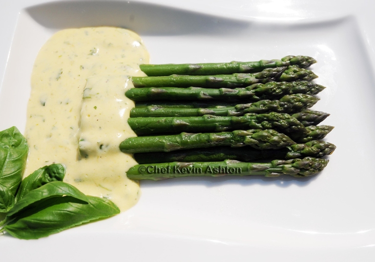 Asparagus with Citrus and Basil Hollandaise© KevinAshton2008