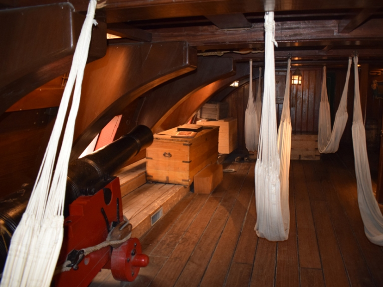Below deck on the Amsterdam