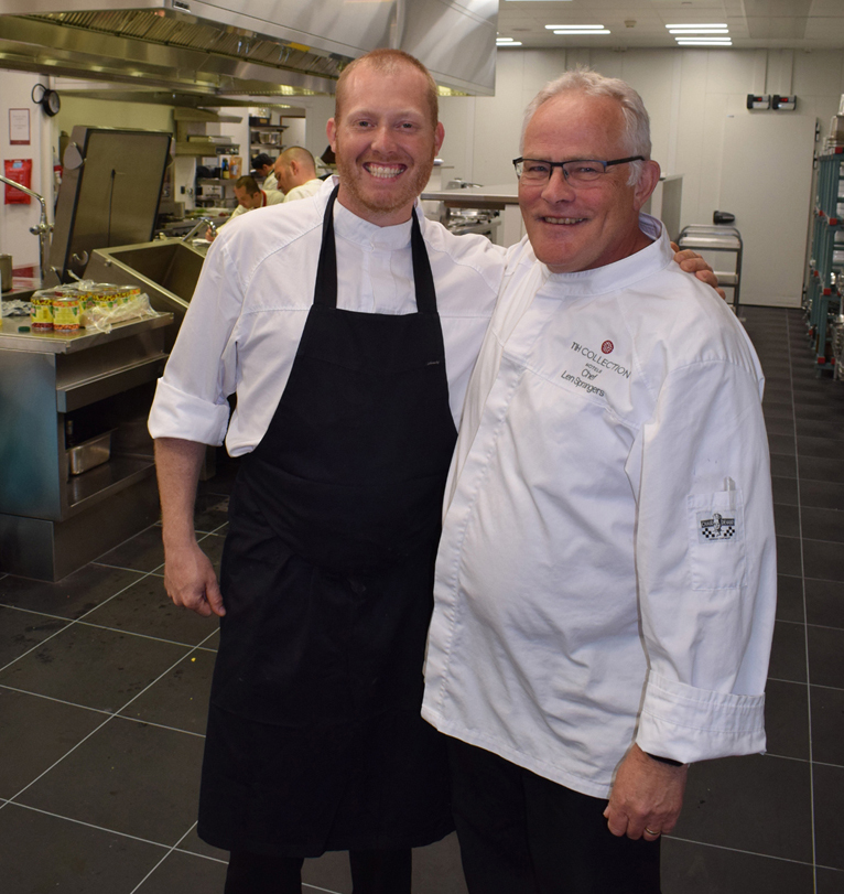 Executive Sous Chef Lenny Spranger (on right)