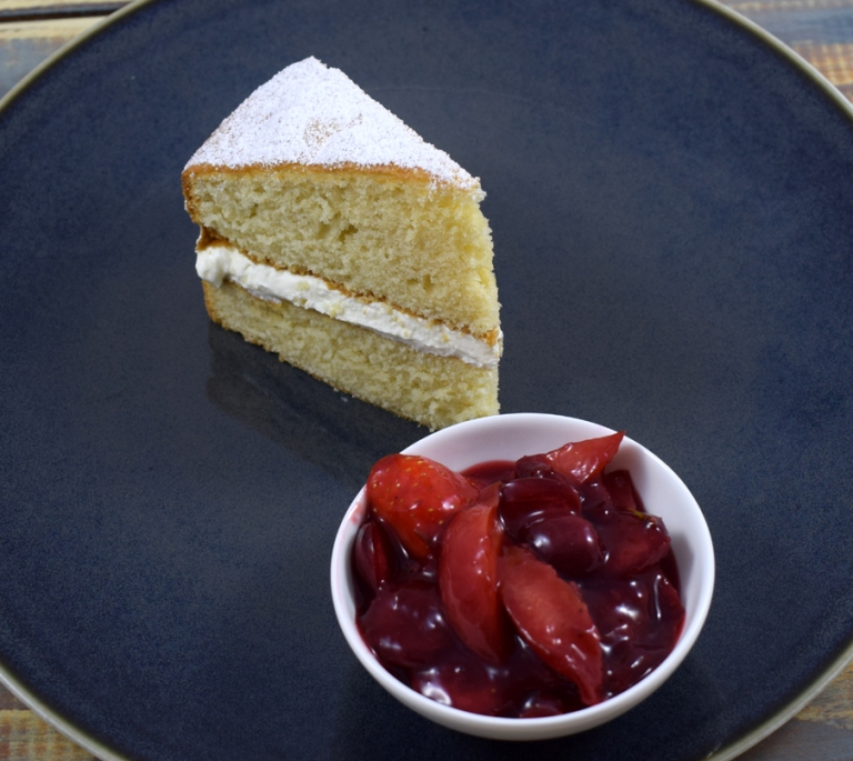 Lemon Yogurt Cake with Red Fruits
