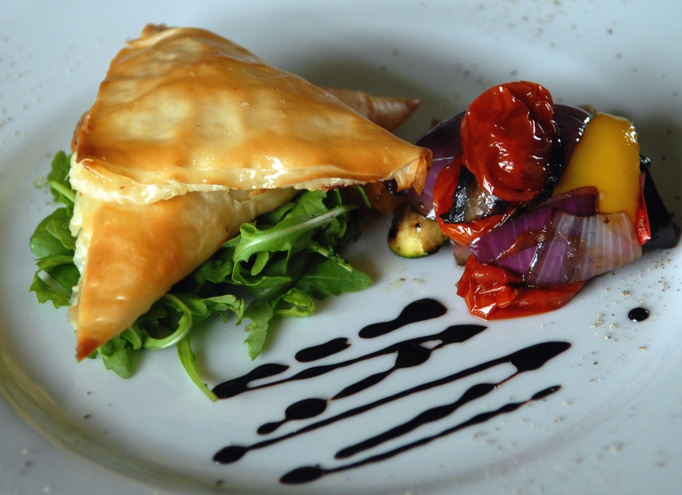Oven Roasted Vegetable Ratatouille with Cheese Parcels small