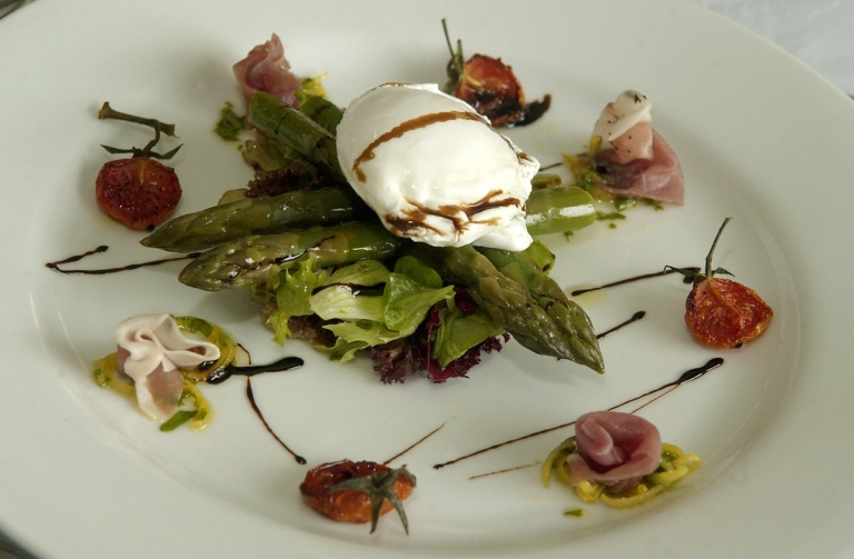 Local Asparagus with poched egg