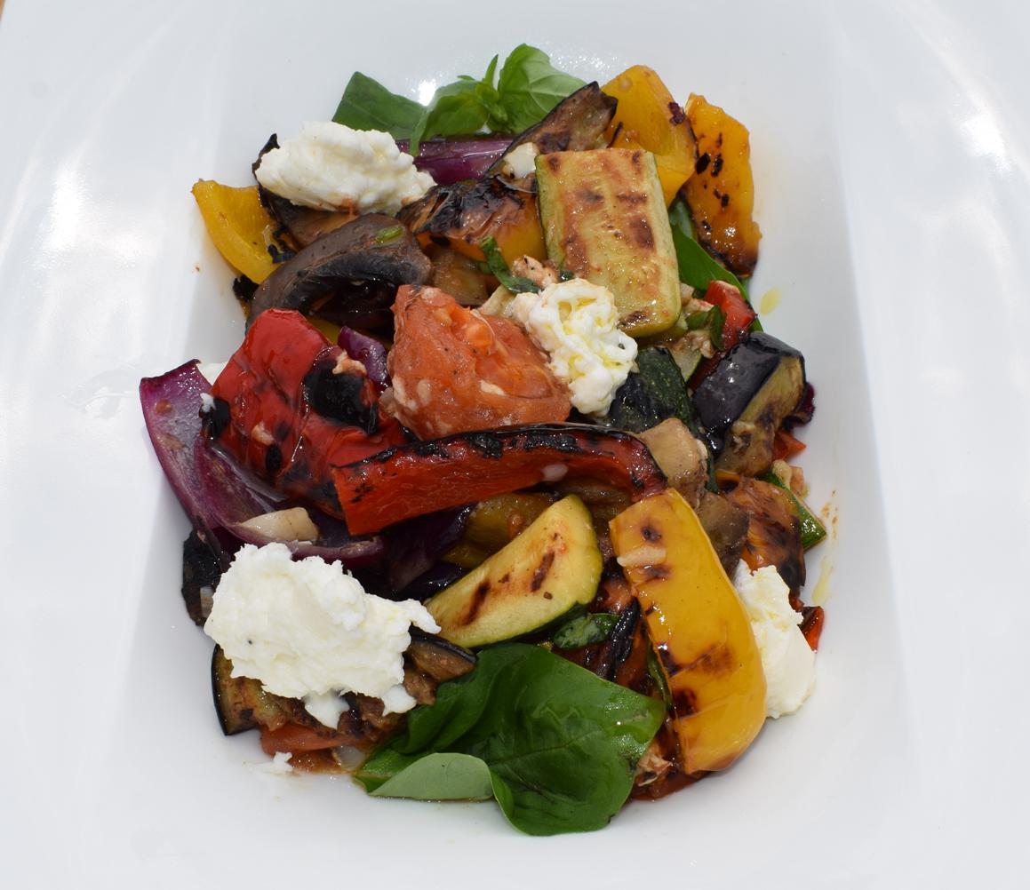 Mediterranean Vegetable Salad closeup