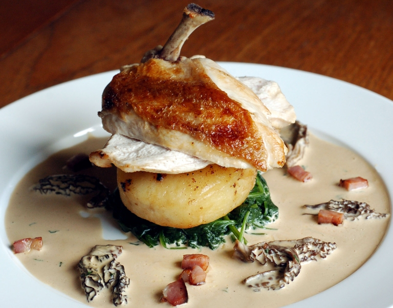 Chicken with Morels and Country Ham© Kevin Ashton 2004